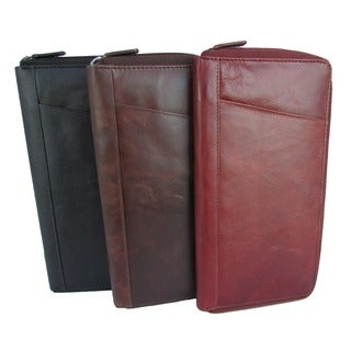 King Stallion Collection Zip-around Traveler Document Passport Holder Leather Case