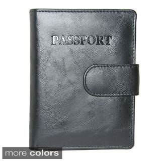 King Stallion Collection Genuine Cowhide Leather Snap Closure Passport Travelers Wallet