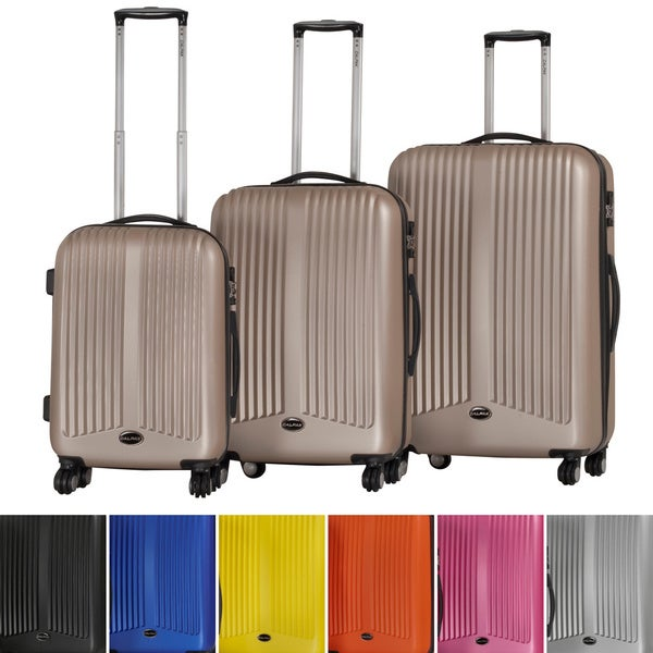 Shop Calpak Covent Ii Expandable 3 Piece Hardside Spinner Luggage Set Free Shipping Today