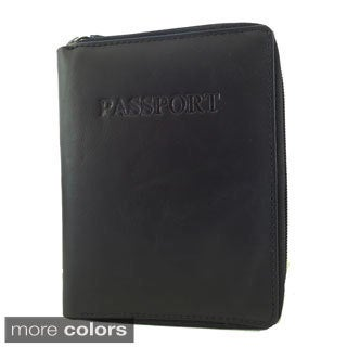 King Stallion Collection Genuine Cowhide Leather Zip Around Passport Travelers Wallet