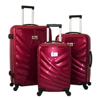 Chariot Veneto 3-piece Hardside Lightweight Upright Spinner Luggage Set