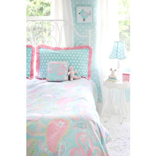 Pixie Baby Aqua 4-piece Duvet Cover Set