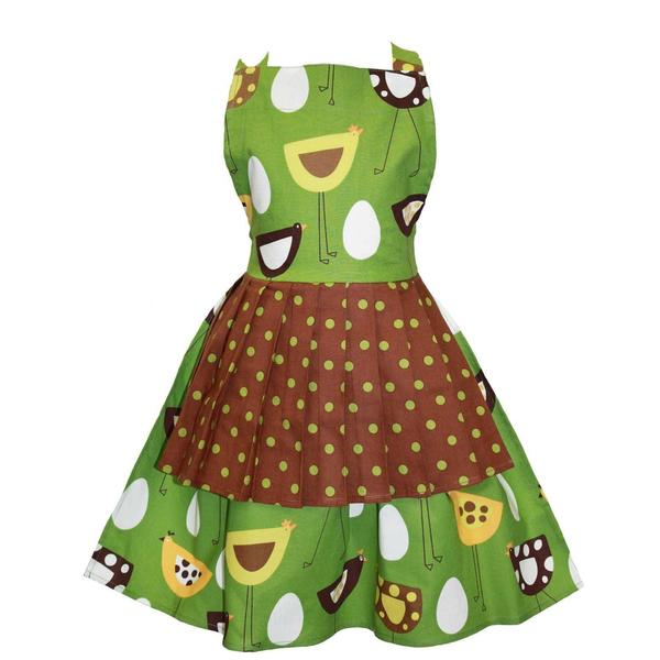 Kids Apron in Over Easy pattern Jessica Style