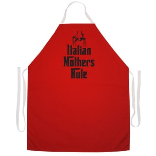 'Italian Mothers Rule' Kitchen Apron-Red