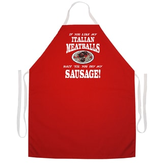 'Italian Meatballs Kitchen Apron-Red