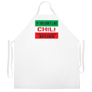 'If You Don't Like Chili You're In The Wrong Kitchen' Apron-Black