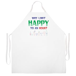 'Why Limit Happy' Ktichen Apron-Natural