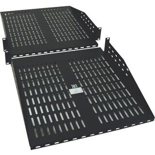 Tripp Lite Rack Cantilever Fixed Shelf 2-Post 4-Post Compatible 2URM
