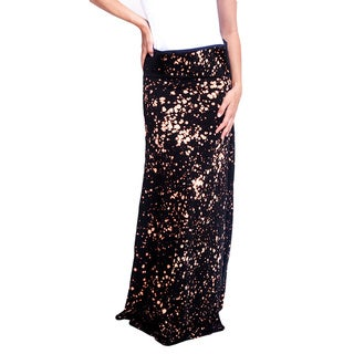 Women's Organic Cotton Spotted Look Maxi Skirt