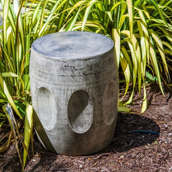 Handmade Eco-Concrete Drum Stool (Vietnam)