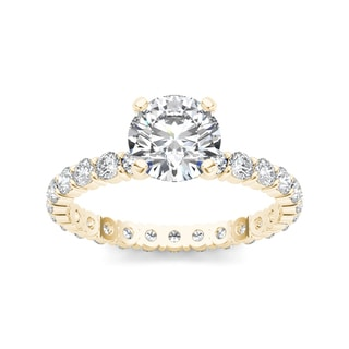 De Couer 14k Yellow Gold 2 1/2ct TDW Diamond Engagement Ring