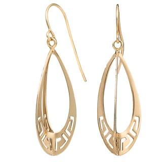 Fremada 10k Yellow Gold Teardrop Three Dimensional Drop Earrings