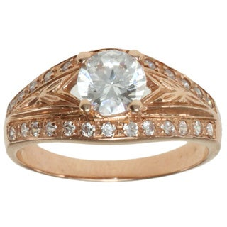Valitutti Signity 14k Rose Gold Cubic Zirconia Ring