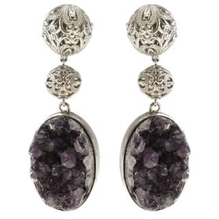 Dallas Prince Dallas Prince Amethyst Druzy Earrings