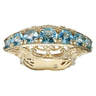 Dallas Prince Gold Over Silver Blue Topaz Ring|https://ak1.ostkcdn.com/images/products/9463566/P16646698.jpg?impolicy=medium