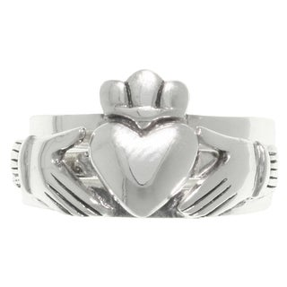 Carolina Glamour Collection Sterling Silver Three-piece Celtic Claddagh Heart Puzzle Ring