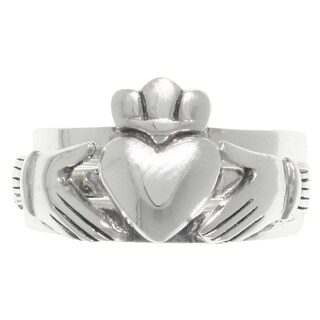 Sterling Silver Three-piece Celtic Claddagh Heart Puzzle Ring