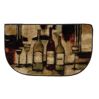 """Mohawk Home New Wave Wine And Glasses Brown (1'6 x 2'6 Slice) - 1' 6"""" x 2' 6"""""""