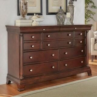 Clara Cherry Brown 9-Drawer Dresser