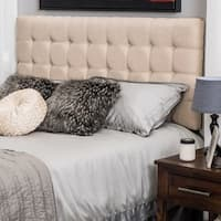 Austin Adjustable King/California King Tufted Fabric Headboard by Christopher Knight Home