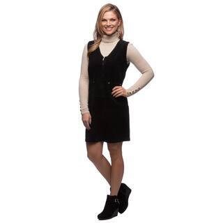 Live A Little Women's Black Corduroy Zip Front Dress|https://ak1.ostkcdn.com/images/products/9463633/P16646773.jpg?impolicy=medium
