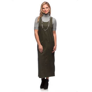 Live A Little Women's Olive Sleeveless Long Jumper