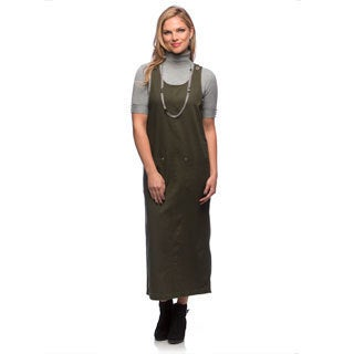 Live A Little Women's Olive Sleeveless Long Jumper (3 options available)