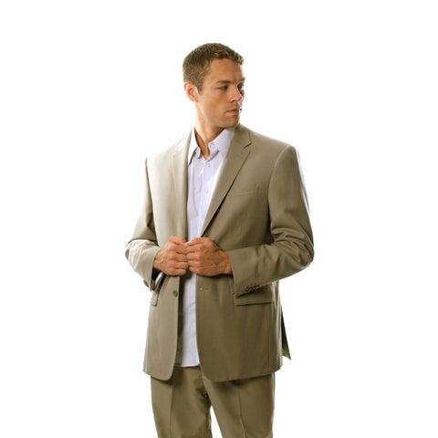 Protomoda Europa Men's 'Super 140' Tan Wool Suit