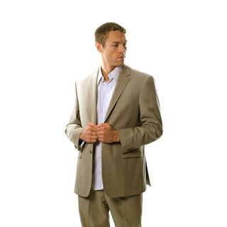 Protomoda Europa Men's 'Super 140' Tan Wool Suit (More options available)