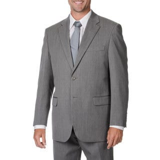 Cianni Cellini Men's Big & Tall Grey Wool Gabardine Suit