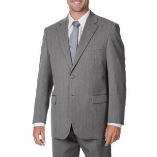 Cianni Cellini Men's Big & Tall Grey Wool Gabardine Suit (Option: 60r)|https://ak1.ostkcdn.com/images/products/9463649/P16646766.jpg?impolicy=medium