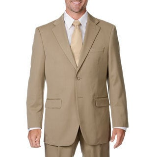 Cianni Cellini Men's Big & Tall Tan Wool Gabardine Suit (More options available)