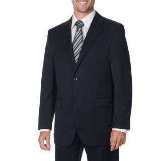 Cianni Cellini Men's Big & Tall Navy Wool Gabardine Suit (Option: 62r)|https://ak1.ostkcdn.com/images/products/9463652/P16646768.jpg?impolicy=medium