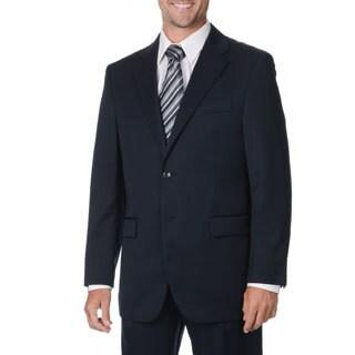 Cianni Cellini Men's Big & Tall Navy Wool Gabardine Suit