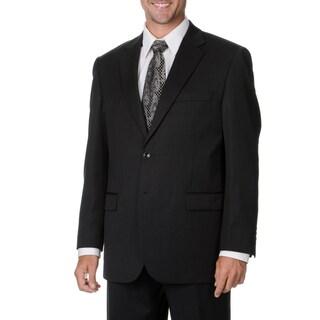 Cianni Cellini Men's Big & Tall Charcoal Wool Gabardine Suit