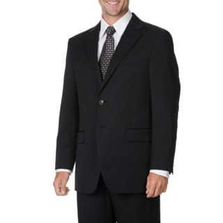 Cianni Cellini Men's Big & Tall Black Wool Gabardine Suit (Option: 60l)|https://ak1.ostkcdn.com/images/products/9463654/P16646770.jpg?impolicy=medium