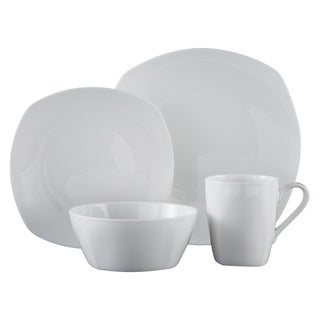 Roscher 32-piece Kelsey Soft-square Bone China Dinnerware Set  sc 1 st  Overstock & Bone China Dinnerware | Find Great Kitchen u0026 Dining Deals Shopping ...