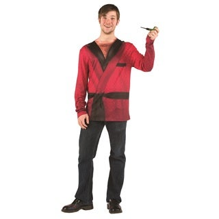 Men's Faux Real Smoking Jacket Top