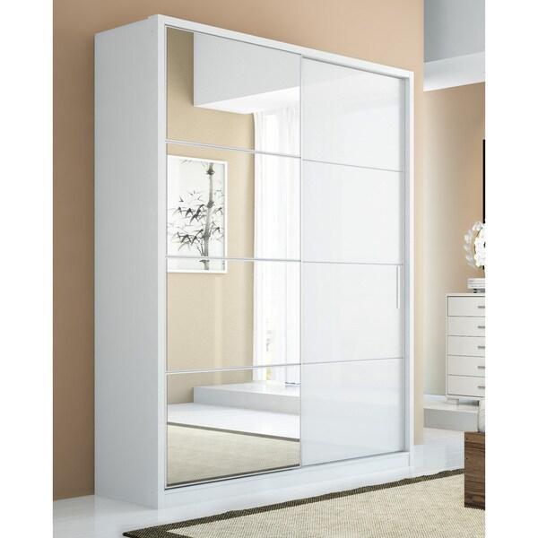 Manhattan Comfort 2-door Bellevue Wardrobe  sc 1 st  Overstock & Shop Manhattan Comfort 2-door Bellevue Wardrobe - Free Shipping ...