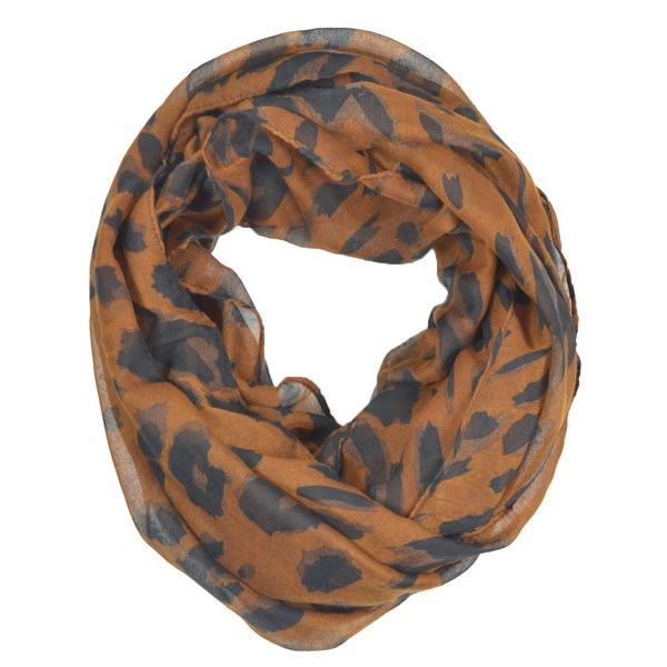 LA77 Women's Leopard Print Infinity Scarf