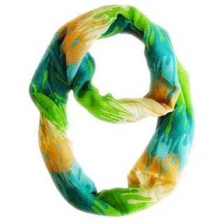 Abstract Green Paint Design Loop Scarf