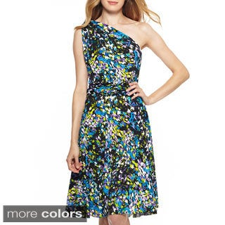 Women's Printed Multi Way Wrap Convertible Infinity Short Dress One Size Fits Most 0-12