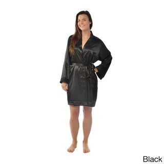 Leisureland Satin Charmeuse Knee-Length Kimono Robe (More options available)