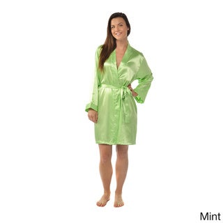 Leisureland Satin Charmeuse Knee-Length Kimono Robe