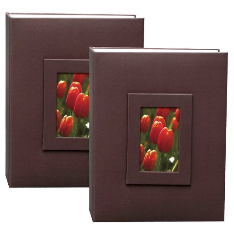 Kleer Vu 2up 4x6 200 Embossed Paper Photo Album (Pack of 2)