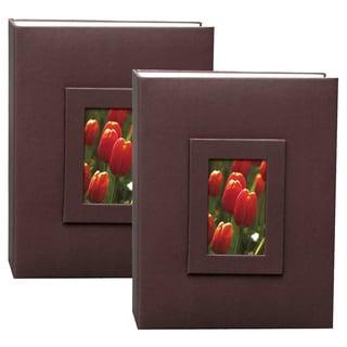 Kleer Vu 2up 4x6 200 Embossed Paper Photo Album (Pack of 2)