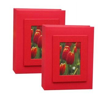 Kleer Vu 4x6 100 Embossed Paper Photo Album (Pack of 2)
