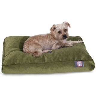 Majestic Pet Grey Villa Collection Rectangle Dog Bed with Removable Washable Cover for Large and Extra Large Dogs