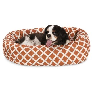 Majestic Pet Bamboo Print Sherpa Bagel Dog Bed