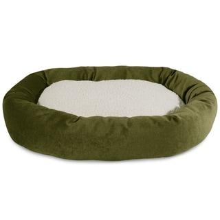 Majestic Pet Villa Collection Faux Velvet/Sherpa Bagel Pet Bed